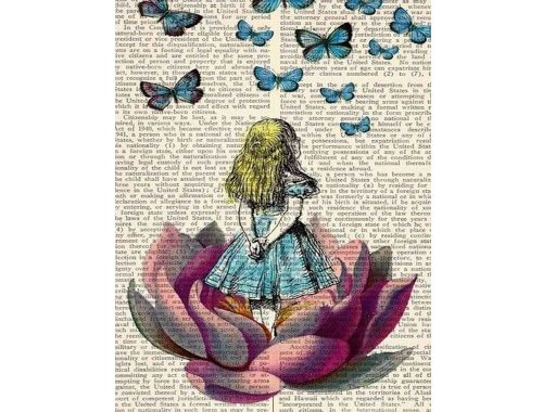 Alice Ihmemaassa. Kuva: Pinterest.com