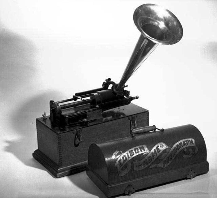 Fonografo di casa Edison, ca. 1900