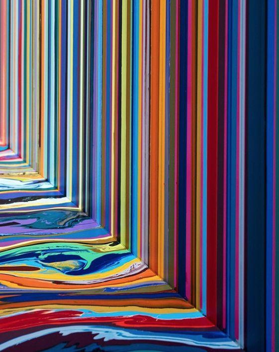 Ian Davenport. Foto de: pinterest.com