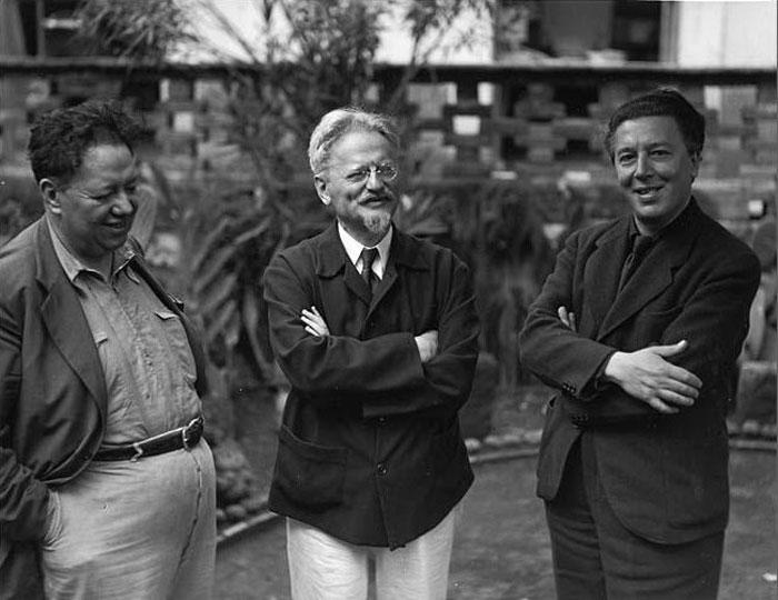 Diego Rivera, León Trotsky and André Breton by Manuel Álvarez Bravo