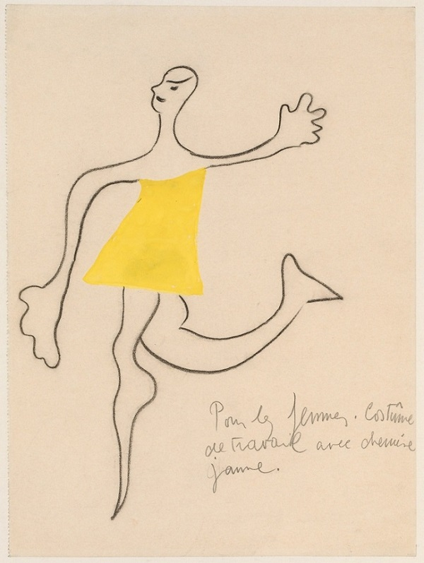 Miró sketch for Ballet Romeo and Juliet