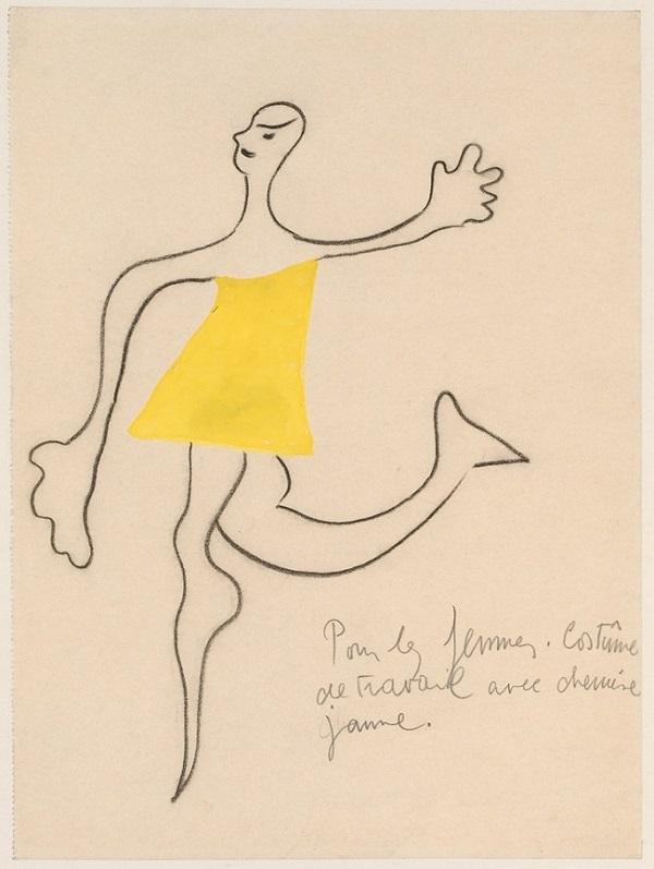 Miró-schets voor Ballet Romeo en Julia