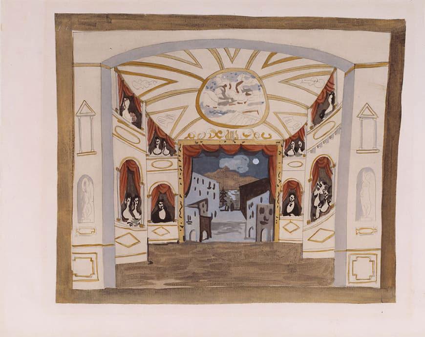 Picasso-schets voor Les Ballets Russes
