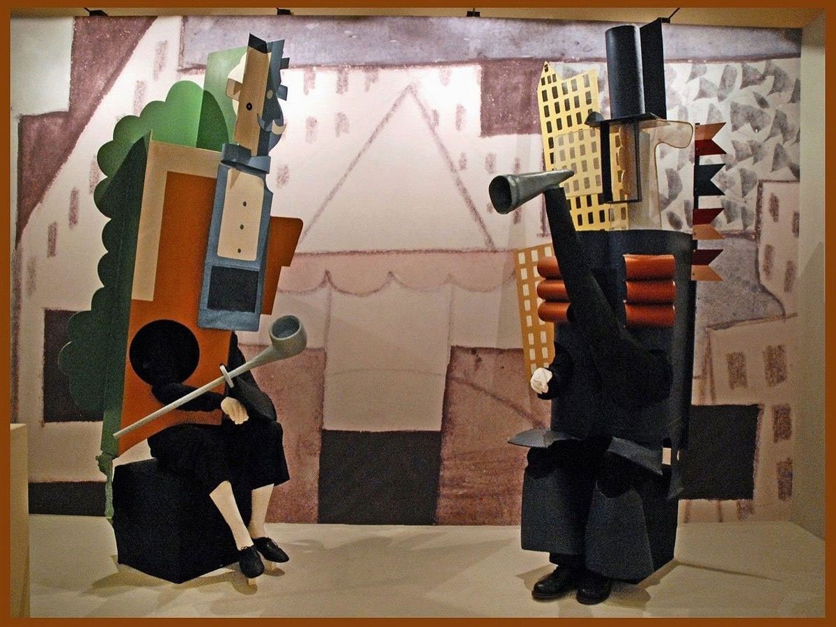 Stage design by Picasso for Les Ballets Russes