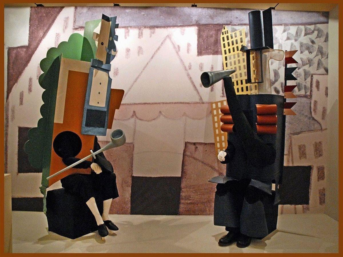 Toneelontwerp deur Picasso vir Les Ballets Russes