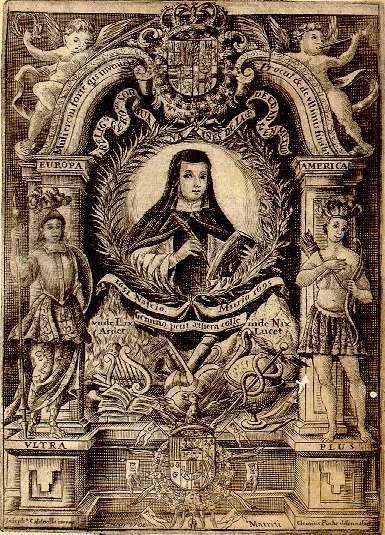 Sr. Juana Inés de la Cruz. Foto av: pinterest.com