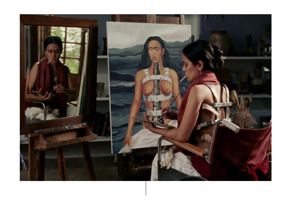 Still from the film Frida, by Julie Taymor