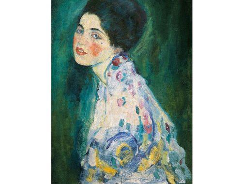Portret van een dame, Gustav Klimt