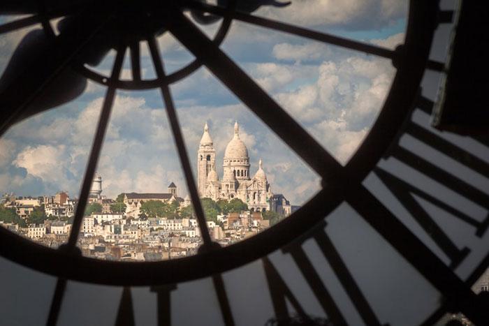 Vista de París desde reloj de Museo de Orsay