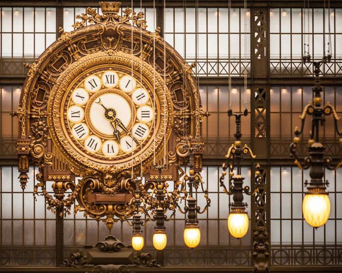 Vista interior de reloj de Museo de Orsay
