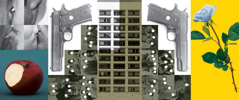 Buildings = Guns = People: Desire, Knowledge, and Hope (with Smog), John Baldessari