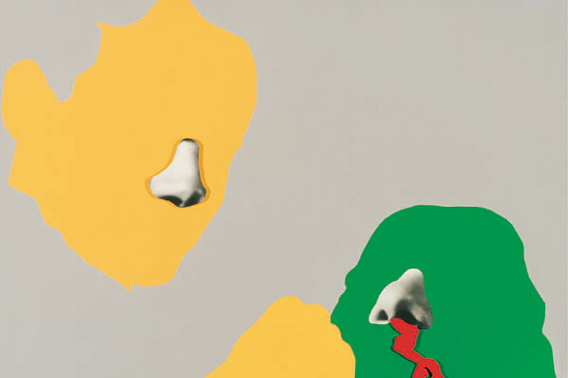Noses & Ears, Etc.: Blood, Fist, and Head (with Nose and Ear), de John Baldessari