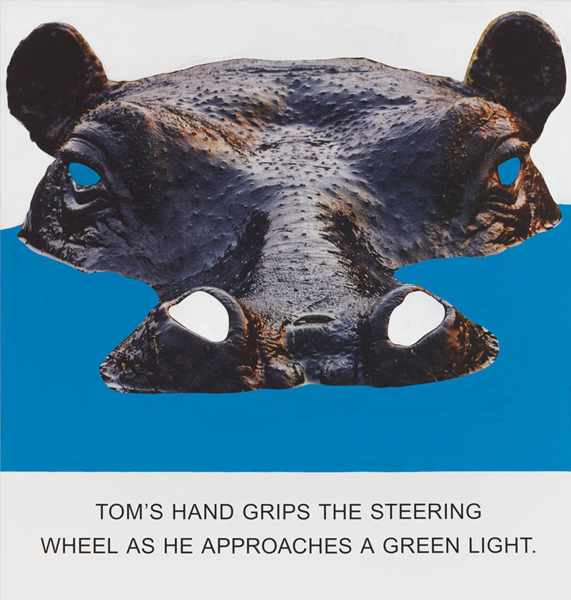 Tom's Hand grips the steering wheel, John Baldessari