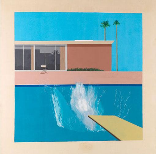 Een grotere plons, David Hockney