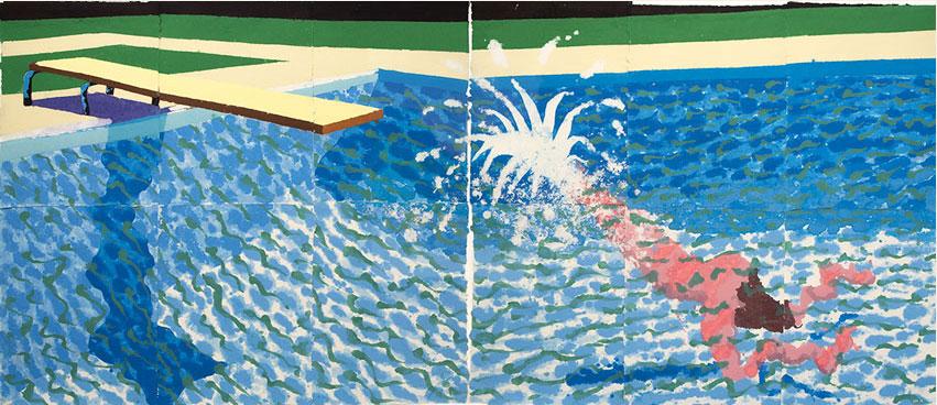 Een grote duiker, David Hockney