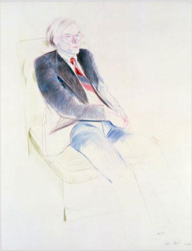 Andy, Parijs, David Hockney