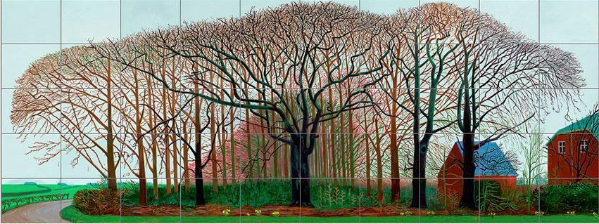 Grotere bomen in de buurt van Warter, David Hockney