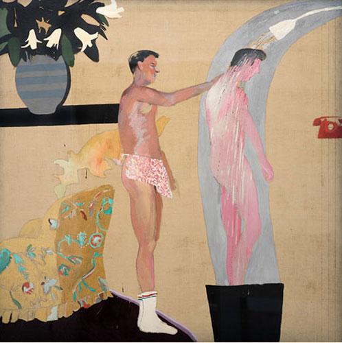 Binnenlandse scène, Los Angeles, David Hockney