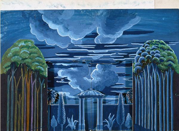 Ontwerp voor set van The Magic Flute, David Hockney