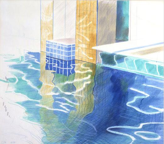 Studie van water, David Hockney