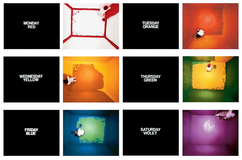 Six Colorful Inside Jokes, stills de video de John Baldessari