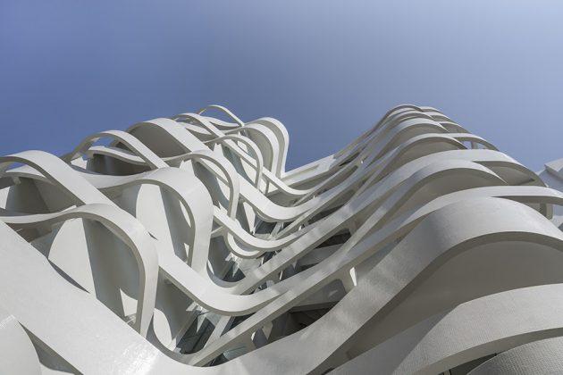Detalle del edificio Le Stella, de Jean-Pierre Lott